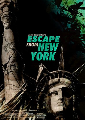 1980's Movie - ESCAPE FROM NEW YORK - P2 / canvas print - self adhesive poster - photo print